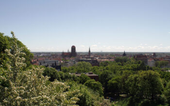 Wspaniała panorama miasta z Góry Gradowej
