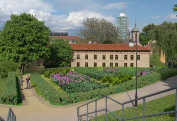 ogród przy budynku 21D - wizualizacja