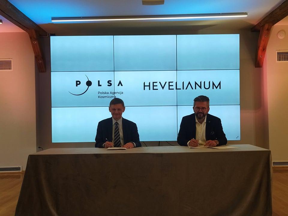 Podpisanie porozumienia z Polską Agencją Kosmiczną